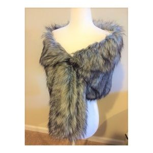 Jackets & Blazers - Faux fur wrap for prom or party
